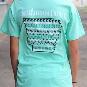 Arkansas State Love Tee {Mint} by Southern Drift