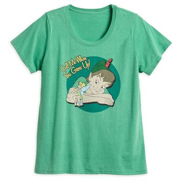 Disney Store Peter Pan and Tinker Bell T-Shirt for Women - Size:M