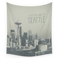 Society6 I LEFT MY HEART IN SEATTLE Wall Tapestry