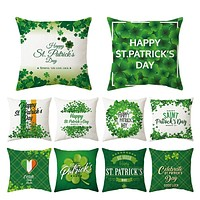 QIFU St. Patricks Day Pillowcase Happy Saint Patricks Day Decoration Spring Green Leaves St Patricks Day Party Decoration