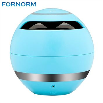FORNORM Portable Wireless Mini Bluetooth Speaker Super Bass Boombox Sound box with Mic TF Card FM Radio LED Light