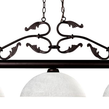 Bourbon Bronze 3 Shade Pool Table Light