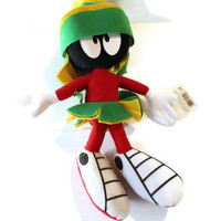MARVIN the MARTIAN PLUSH, Vintage Looney Tunes plush, vintage stuffed animal, vintage Marvin the Martian, vintage Applause stuffed toy