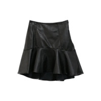 Pleather Irregular Hem Skirt