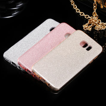 Hot ! Glitter Bling Case for Samsung Galaxy S7 S7 Edge High Quality PC + TPU Deluxe Cover Accessories for Galaxy S7 S7 Edge