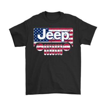 ESB8HB Jeep Car And America Flag Proud Owner Shirts
