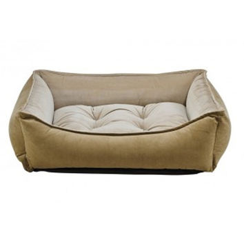 MicroVelvet Scoop Bolstered Dog Bed — Toffee