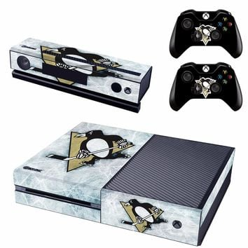 NHL Teams Skin Sticker Decal For Microsoft Xbox One Console and 2 Controllers For Xbox One Skin Sticker Vinyl