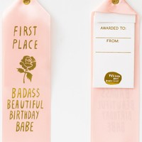 Badass Beautiful Birthday Babe Ribbon