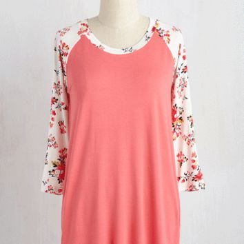Spring, Batter, Batter Top in Coral