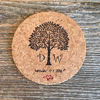Tree Coasters, Wedding Favors, 100 Party Favors, Personalized Wedding Favor, Bridal Shower Favors, Tree Wedding Gift, Rustic Wedding Favor