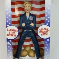The Hillary Clinton Nutcracker Stainless Steel with Original Box