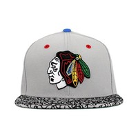 Chicago Blackhawks Gray, Multi Colors (Green Under) Fitted New Era 59fifty