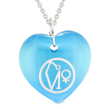 Archangel Uriel Sigil Magic Planet Energy Amulet Puffy Heart Pendant Necklace