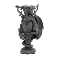 Black Dragon Scaling Vase