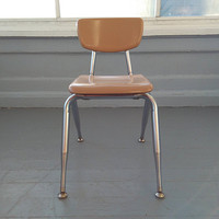 Vintage, Small, Virco, Kids Chair, Childrens Chair, School House Chair, Chrome, Kids Furniture, MidCentury, Industrial, RhymeswithDaughter