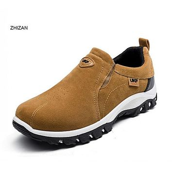 ZHIZAN Hot Sale Spring Autumn Fashion Men Shoes Mens Flats Casual Suede Shoes Comfortable Breathable Flats Driving Loafers