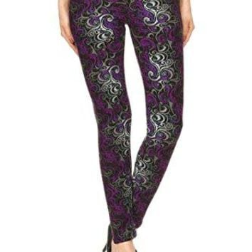 Leggings Mania Womens Printed High Waisted Full Length Leggings