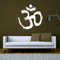 Wall Decal Vinyl Sticker Decals Art Decor Design Sign Om Yoga Studio Buddha Ganesh Karma Asana Chakras India Om Bedroom Office Dorm (r1130)