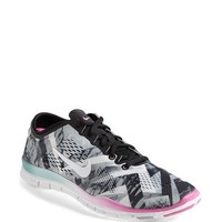 Nike 'Free 5.0 TR Fit 4' Print Training Shoe (Women)