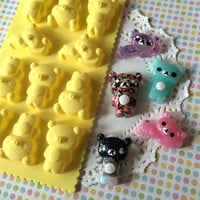 Silicone Mold - Resin Mold - Candy Mold - Soap Mold - Kawaii Bear Mold