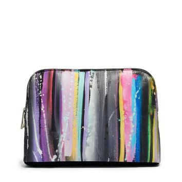 ASOS Clutch Bag In Blurred Lines Print
