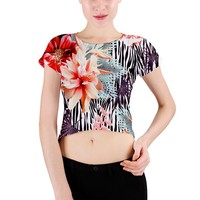 TROPICALIA CROP TOP Crew Neck Crop Top