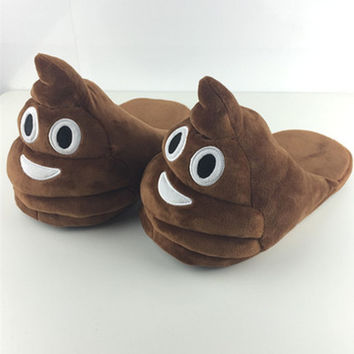 Funny Mens Plush Slippers Indoor Shoes House Cute Women Slippers Emoji Shoes Warm House Slipper