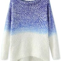 All-Matching Dip-Dye Mohair Sweater