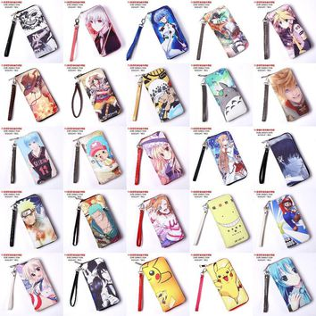 Cool Attack on Titan Anime Tokyo Ghoul One Piece Naruto LoveLive  Date A Live Hatsune Miku PU Long zipper Purse hand wallet AT_90_11