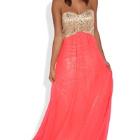 Dress with Sequin Bodice and Soft