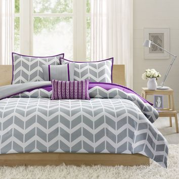 Intelligent Design Reversible Peyton Purple Comforter Set | Overstock.com Shopping - The Best Deals on Teen Comforter Sets
