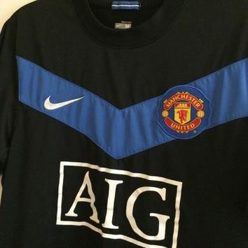 Sale!! Vintage Nike Manchester United Soccer Jersey MUFC Football Shirt England Size M