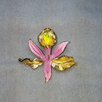 Pink Flower GERRYS Gold Tone Brooch / Pin