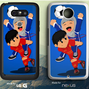 Chelsea Girl And Liverpool Boy Anime LG G3 | G4 | G5 Case, Nexus 5 | 6 Case
