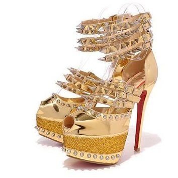 PEAPTND CL Christian Louboutin Fashion Heels Shoes