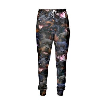Rottweiler Faces Jogger Pants