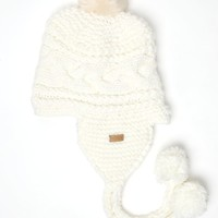 Roxy Lima Pom Beanie - Womens Sweaters - Cream - One