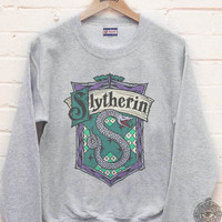 Slytherin Crest #2 Fullcolor printed on Crew neck Sweatshirt