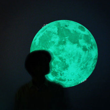 40Cm Luminous Wall Stickers For Kids Room Decoration Glow In The Dark Wall Sticker