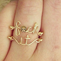 "The ""Fck It"" Rings (as seen on Pinterest) Mature listing"