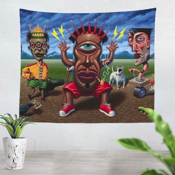 Petitioning Papa Legba Tapestry