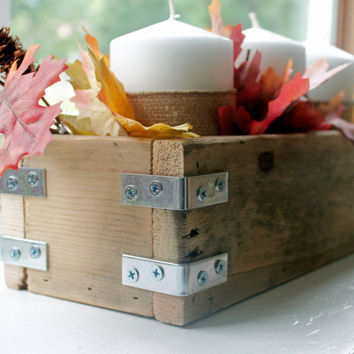 Rustic Wedding Centerpiece | Wooden Planter Box