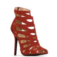 Sale-burgundy City Cutout Heels
