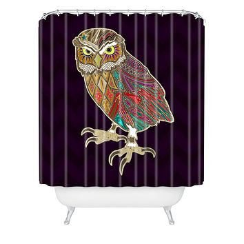 Sharon Turner Little Brother Owl Shower Curtain