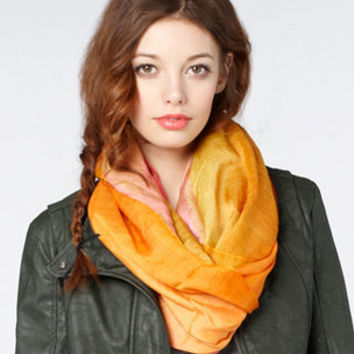 fredflare.com | 877-798-2807 | lightweight cherry ombr? infinity scarf