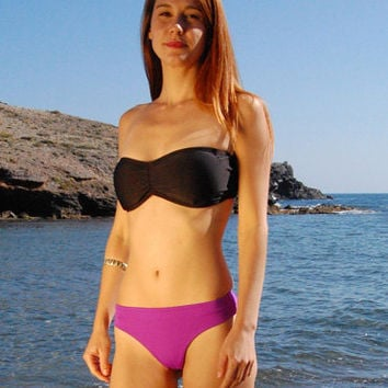 SALE* Brazilian Thong Bikini Bottom TARIFA in purple tanzanite, by MAKANI Dream Swimwear