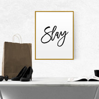 Beyonce formation Slay typographic art print home decor song lyrics print Beyoncé Quote Girl Room Decor I woke up like this Beyonce Queen B