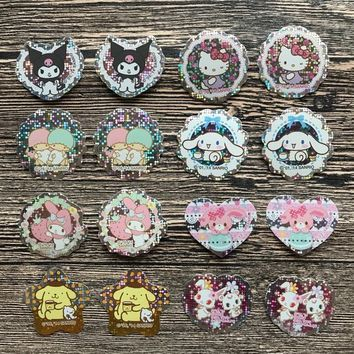 Sanrio Holographic Stickers Kuromi Stickers Little Twin Stars Stickers Cinnamoroll Stickers My Melody