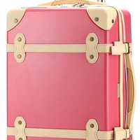 Ambassador Luggage Antique Fashion Polycarbonate Spinner Suitcase 25 Inch Medium Trip Pink